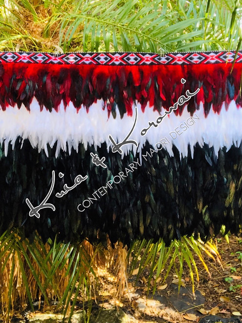 """""""Ngatira"""" Adults XL Half Length Feather Cloak"""