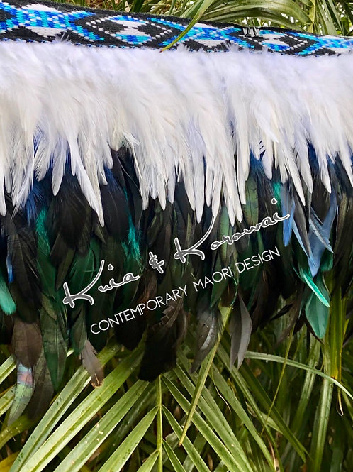 """Te Kohu"" Ladies Large 1/4 Length Feather Cloak"