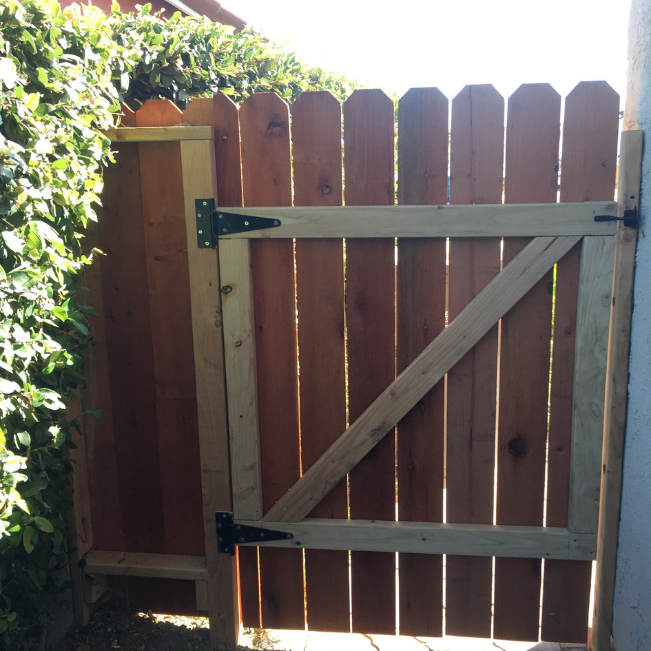 Wood Gate and Small Fence