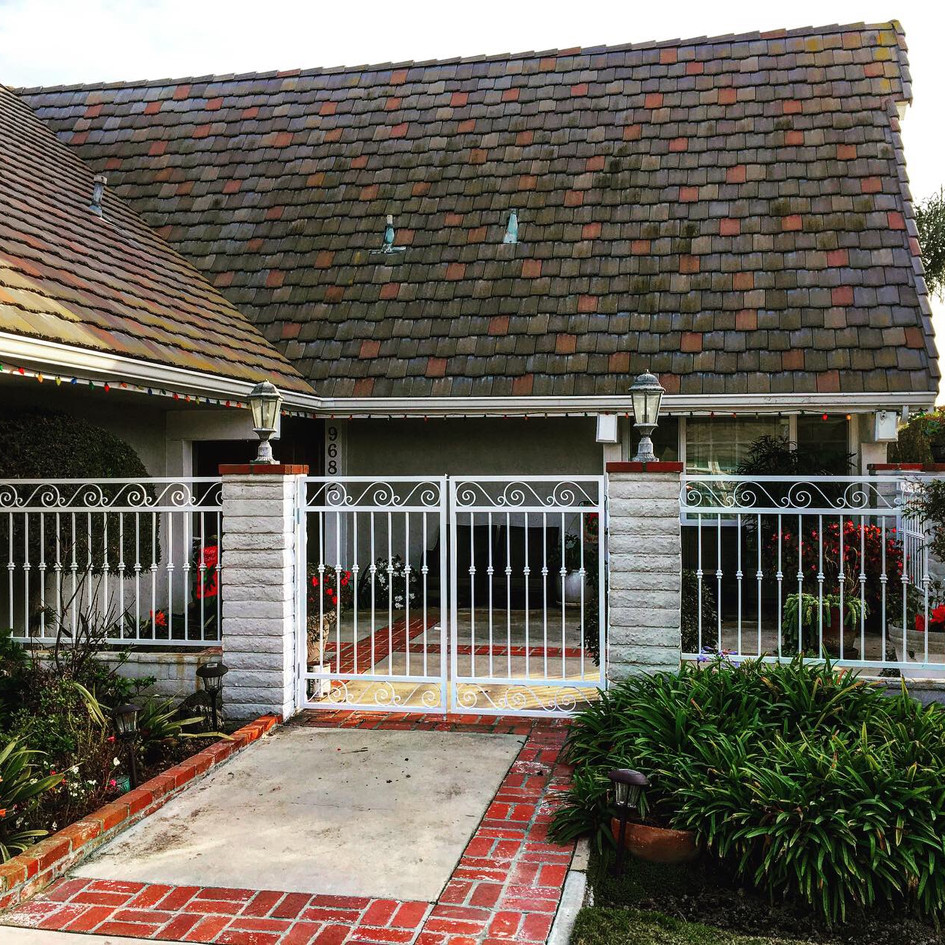White Wrought Iron Gate and Fence