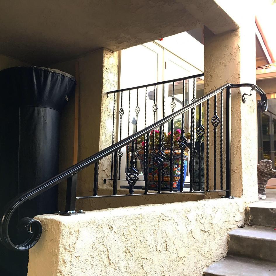 Custom welded handrail