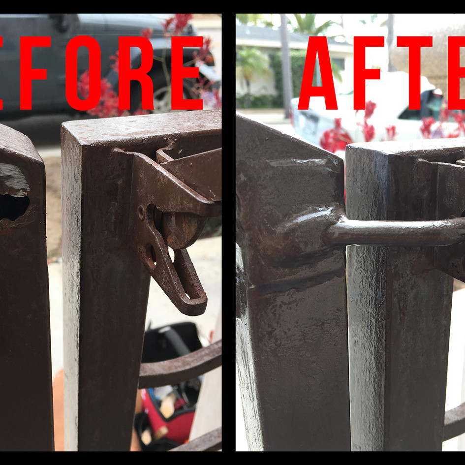 Before and After Welding Repair