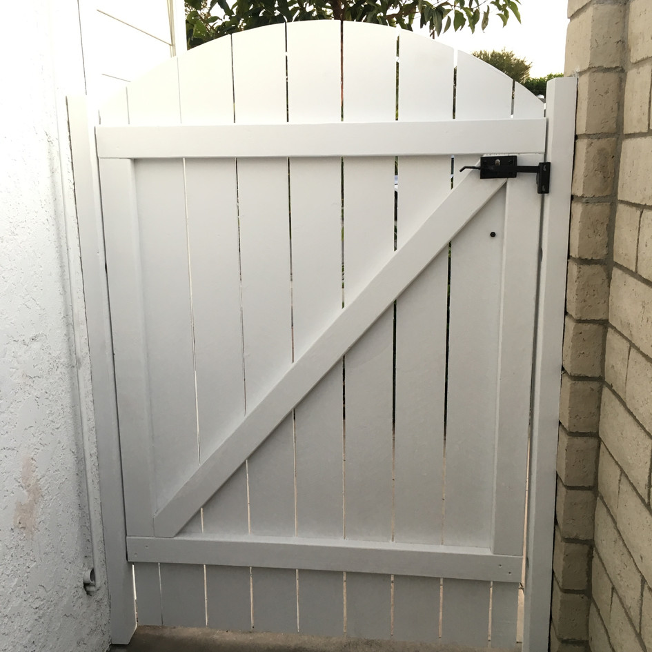 Arched Wood Gate