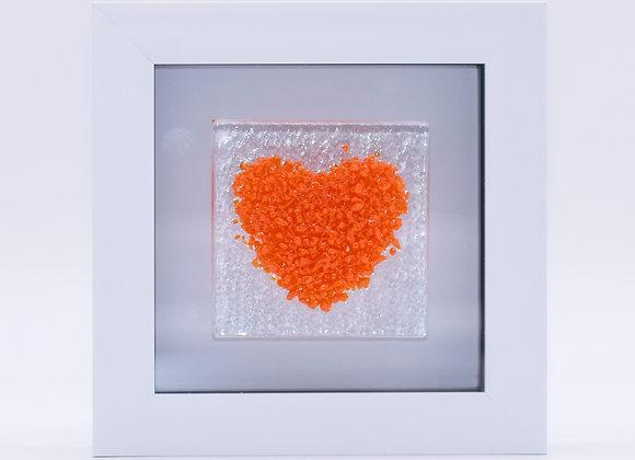 Orange Love Heart.