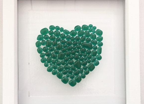 Green Bobble Heart Frame.