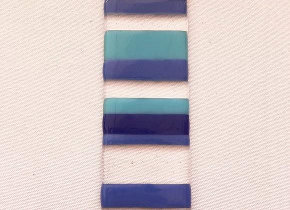 Opalescent Blue & Clear Light Catcher.
