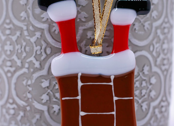 Santa Stuck In The Chimney.