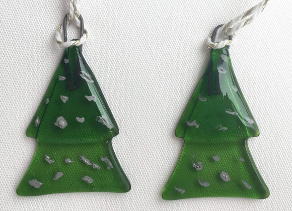 Dark Green with Silver Spot Christmas Tree.