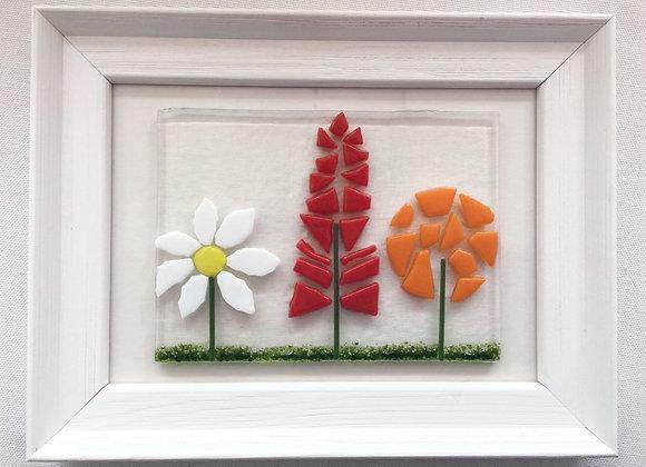Triple Floral Frame Landscape.