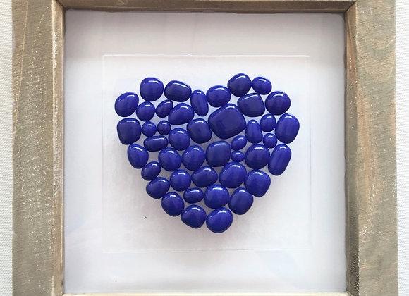 Dark Blue Bobble Heart.