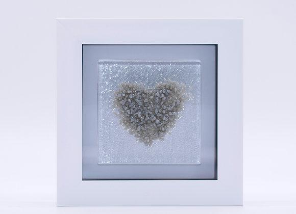 Grey Love Heart Frame.