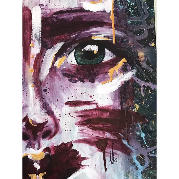 "Details of artwork ""Wolf cub"""