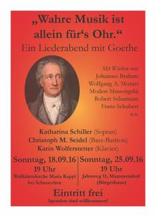 Musik und Geschichten von Goethe