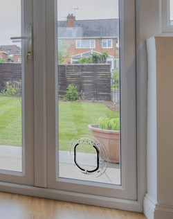 catflap in sealed unit