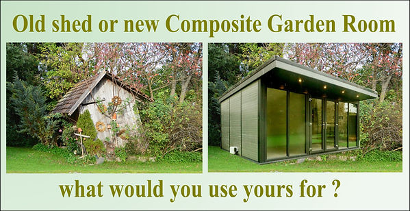 new garden room or old shead