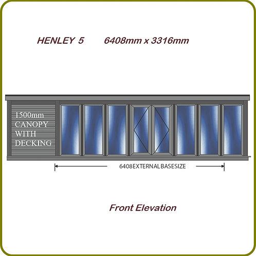 Henley 5 garden room with overhang