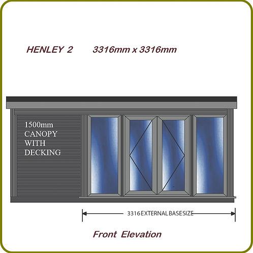Henley 2 garden room with overhang