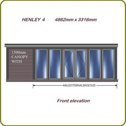 Henley 4 garden room with overhang
