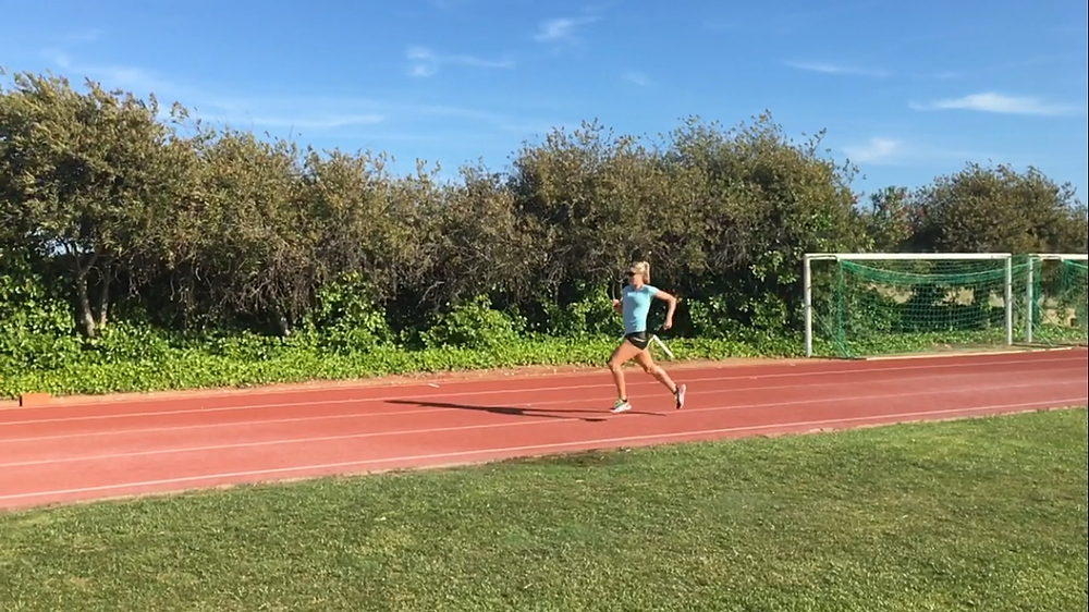 1st of the stride analysis on the running track