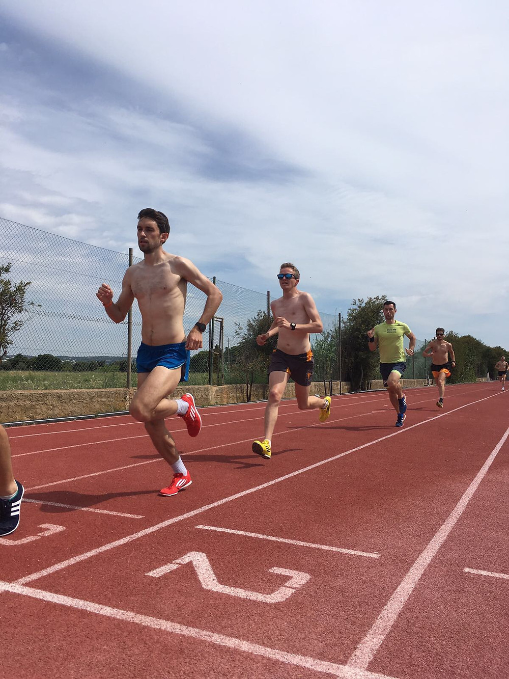 the guys working hard during their track session