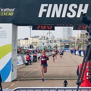 brighton marathon finish line 2019