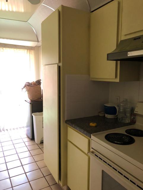 Kitchen before - big cabinet