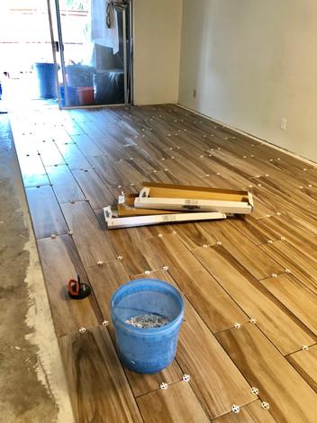living room - new floor