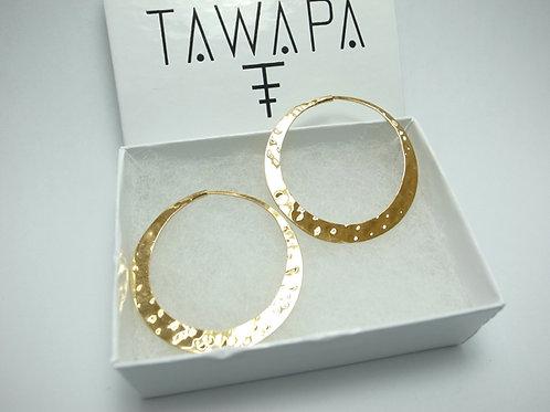 TAWAPA - Gold Plated Classic Hoop
