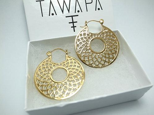 TAWAPA - Gold Plated Mini Mandala Hoop