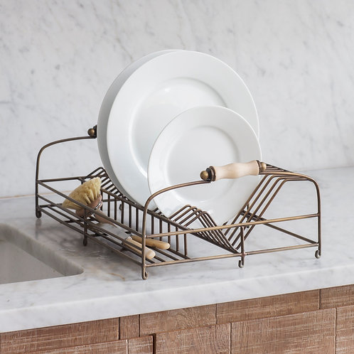 Antique Brass Dish Rack