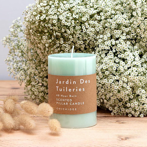 Mint Pillar Candle - Medium