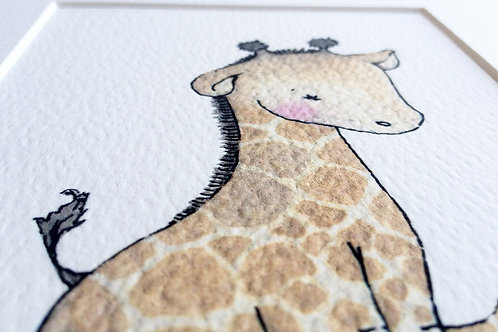 Watercolour Giraffe Print