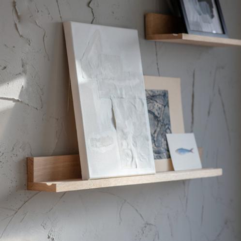 Oak Picture Shelf - Large