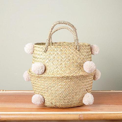 Sand Pom Pom Basket