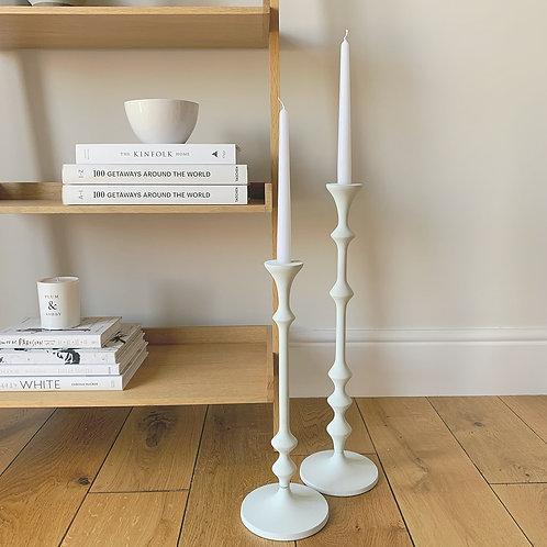 Matte White Candlestick Small