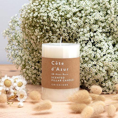 White Pillar Candle - Medium