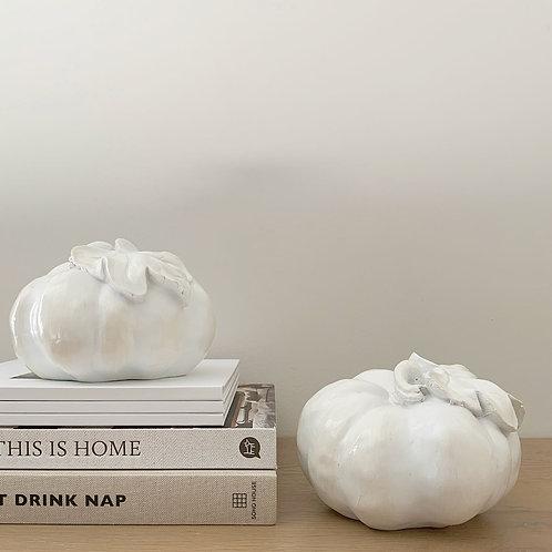 White Decorative Pumpkin