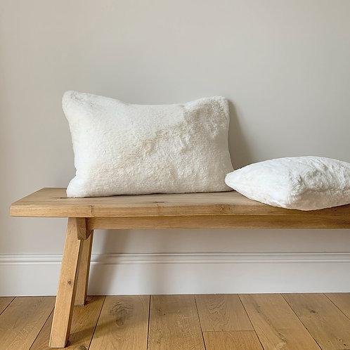 Off-White Faux Fur Cushion - Small