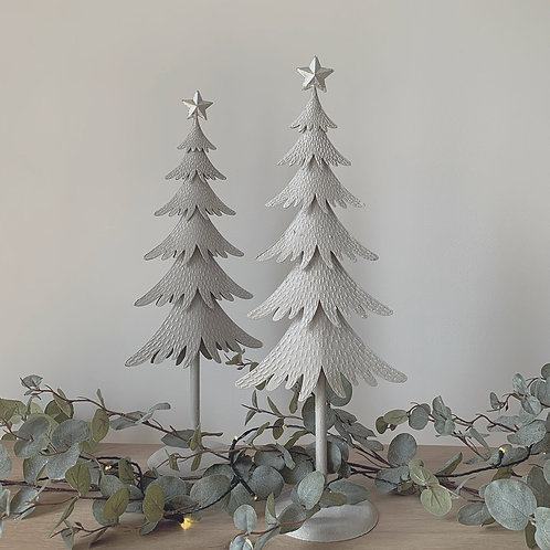 Silver Glitter Metal Christmas Tree