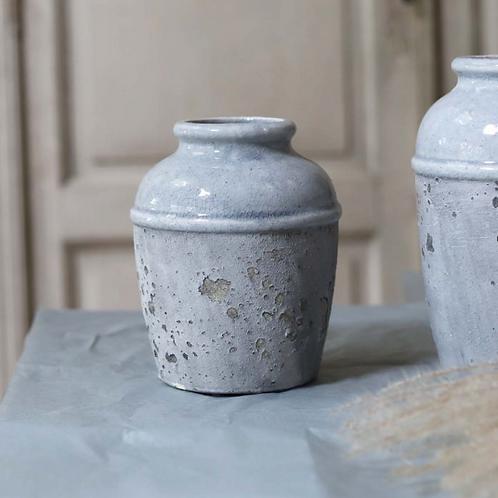 Pale Blue Cement Vase