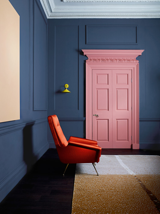 Zoffany Paint - Como Blue and Russet
