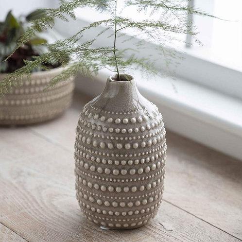 Taupe Decorative Ceramic Bobble Vase