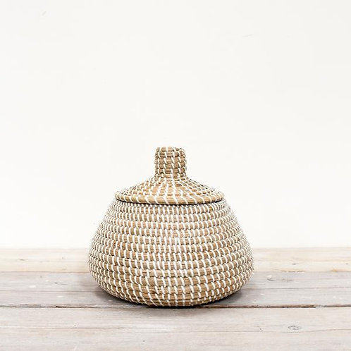 Lidded Seagrass Basket - Small