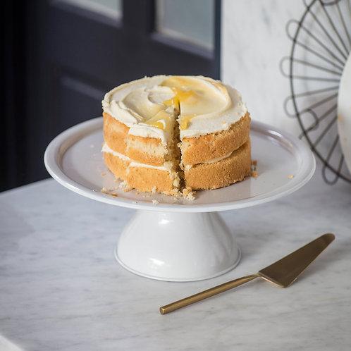 White Enamel Cake Stand
