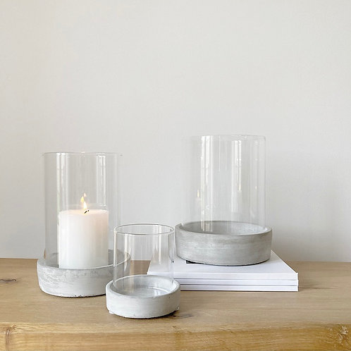 Set of 3 Concrete Candle Holders