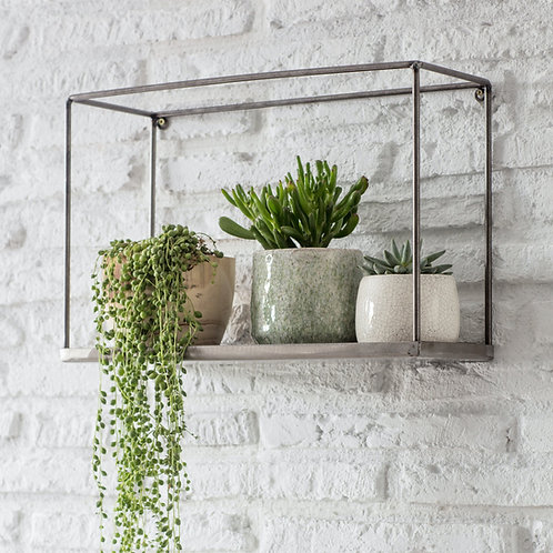 Pewter Box Wall Shelf