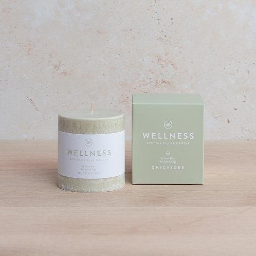 Wellness Pillar Candle Small