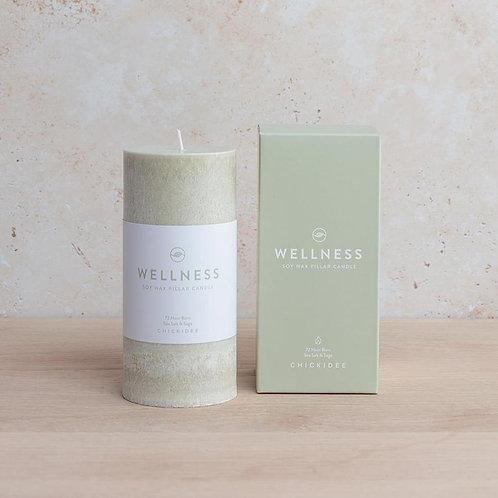 Wellness Pillar Candle Large