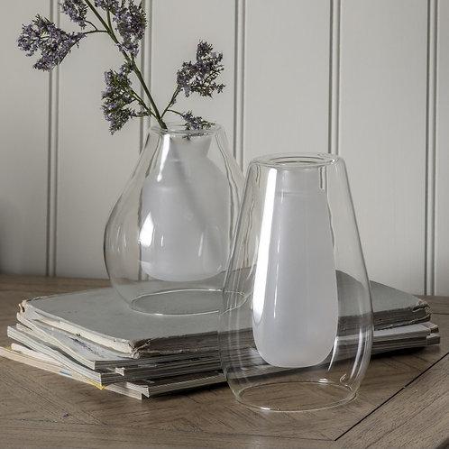 White Glass Vase - Large