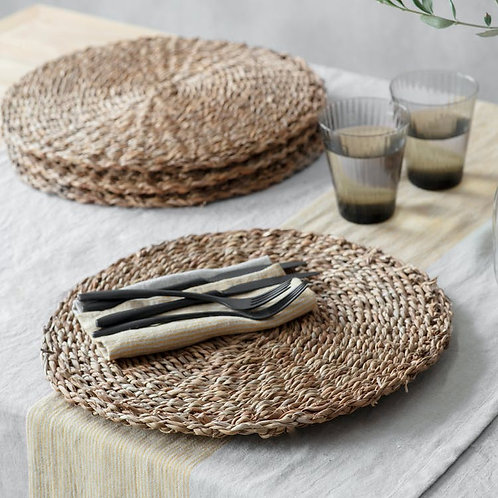 Set of 4 Natural Seagrass Placemats